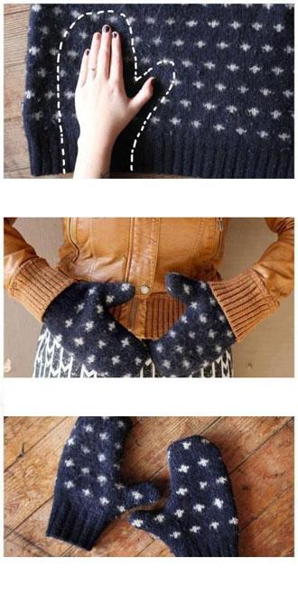 pasisiuk pirstines is seno megztinio