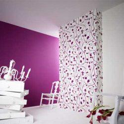 violetiniai tapetai