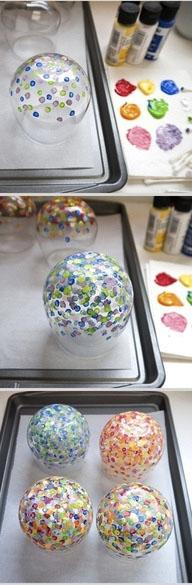 stiklinių dažymo procedūra