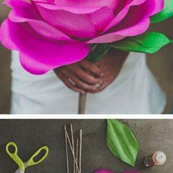 dirbtinė gėlė iš tampomo popieriaus