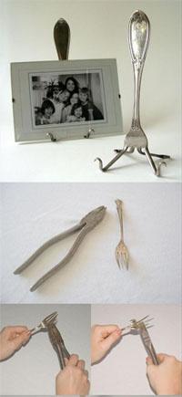 šakutė laikiklis nuotraukai