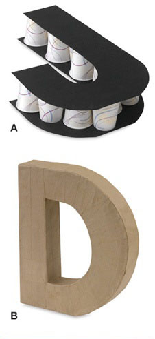 dekoratyvinė raidė D