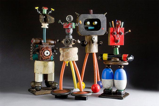 originalus robotai is atliekiniu medziagu