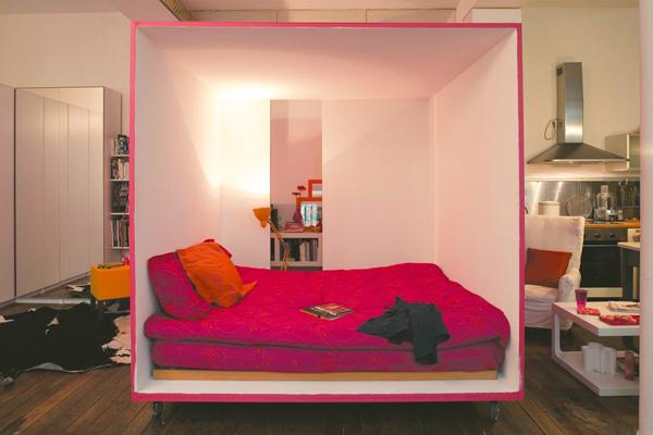 mobilus miegamasis kubas, atvira puse