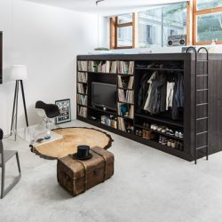 baldas mažoms erdvėms gyvenamas kubas