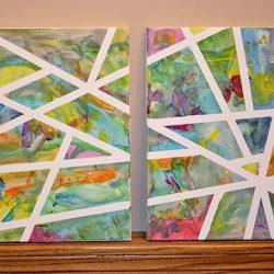 lipni juosta abstrakcijos paveikslai