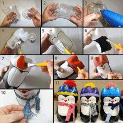 plastmasiniu buteliu pingvinai