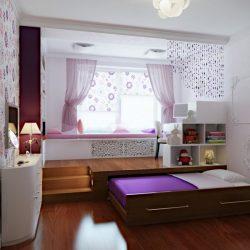 violetine lova istraukiama palange