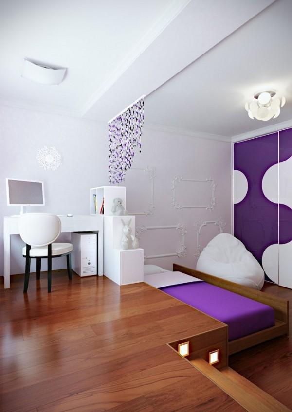 violetine lova sustumiama