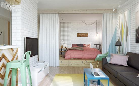 45 m butas svetaine miegamasis
