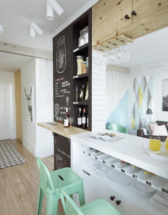 45 m butas virtuve baras