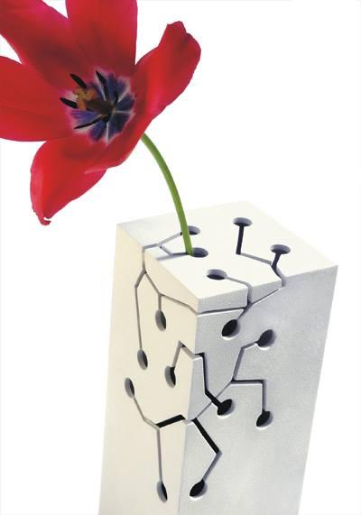 dekoratyvinine vazele, gele