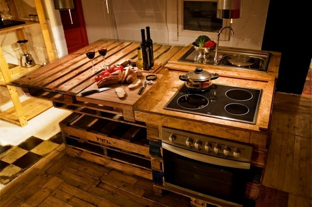 virtuvine sala paletes