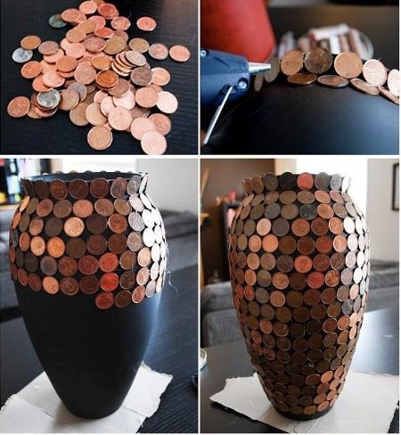 klijuojamos monetos vaza