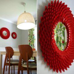 raudoni sauksteliai veidrodziai
