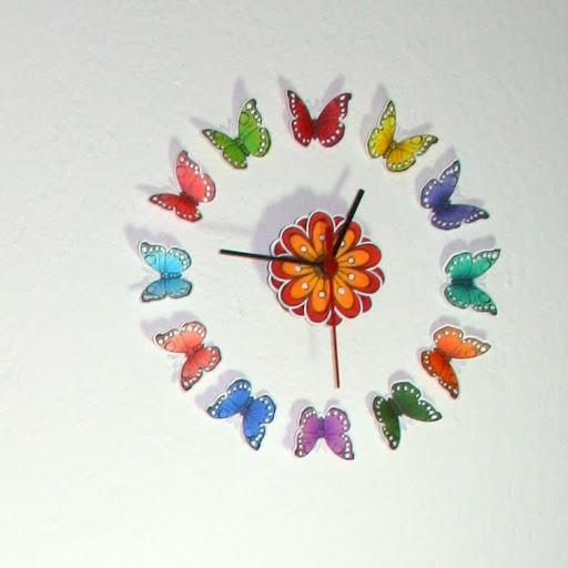 laikrodis drugeliai 1
